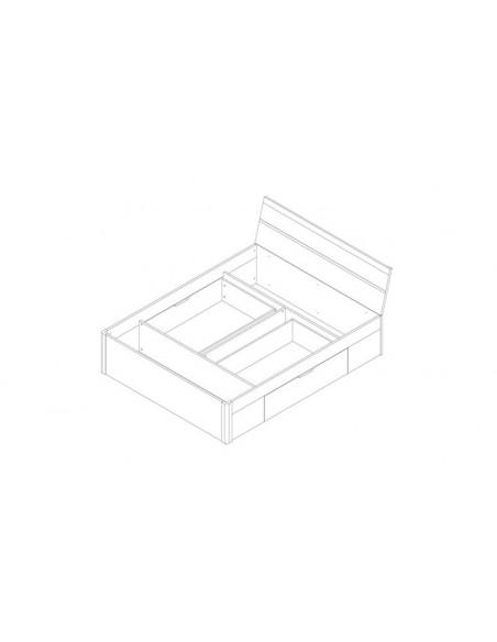 Lit avec tiroirs 180 x 200