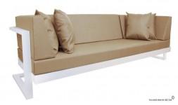 Canapé de jardin blanc
