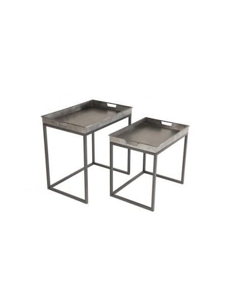 Tables gigognes zinc