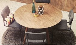 Table à manger ronde noyer