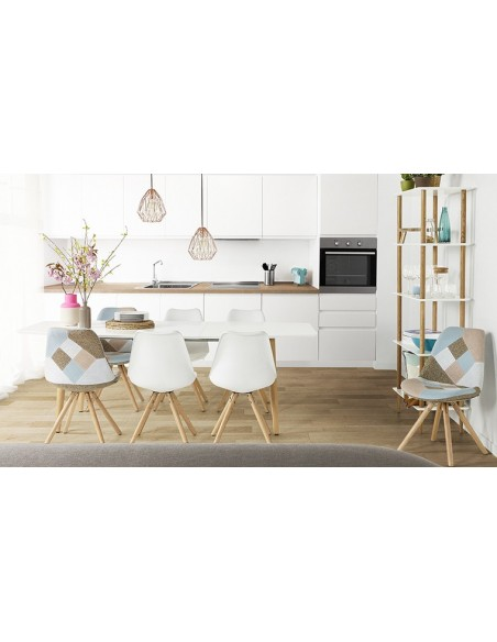 table scandinave blanche extensible