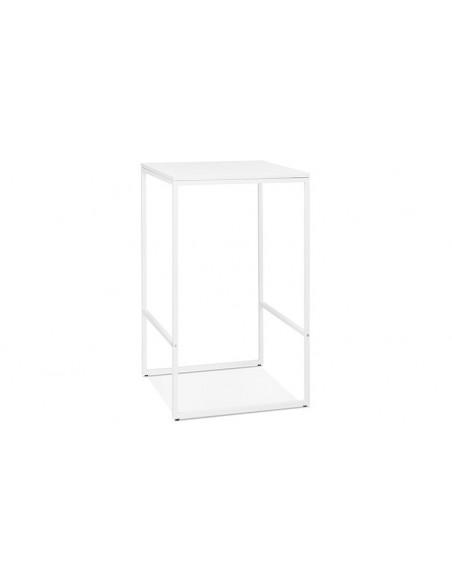 Table bar métal blanc