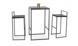 table bar carrée industrielle