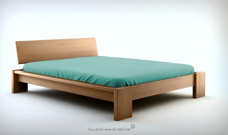 lit en bois massif design