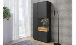 vaisselier noir avec éclairage LED