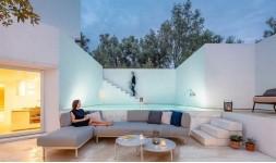Salon jardin méridienne luxe