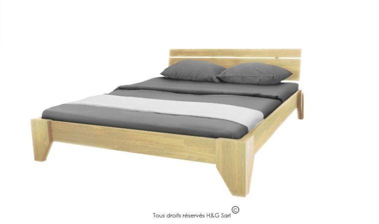 lit en bois massif contemporain