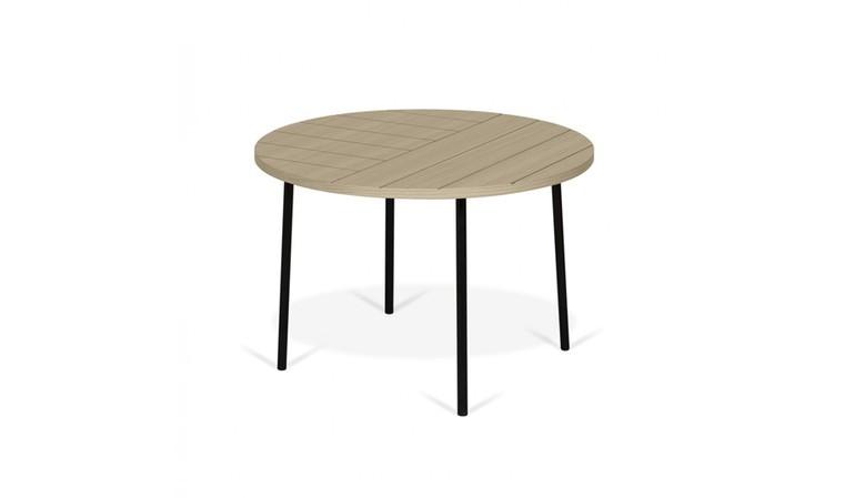 table basse ronde 70 cm avec motifs gravés  fly