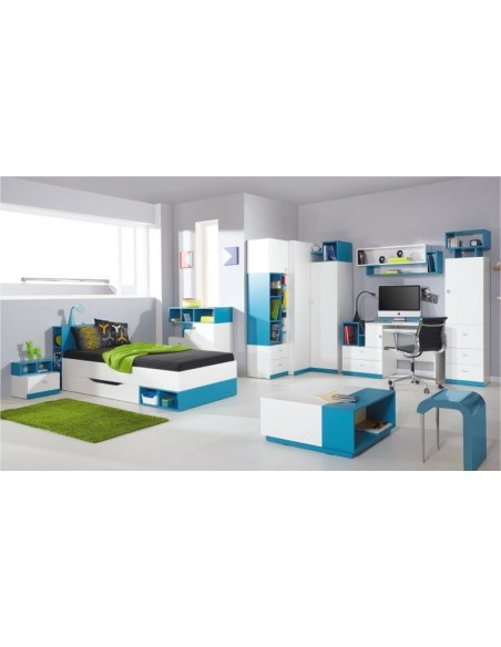 Bureau enfant bleu design