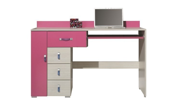 bureau enfant rose et blanc de qualite livr en 5 jours. Black Bedroom Furniture Sets. Home Design Ideas