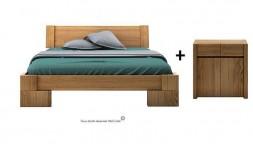 Pack lit design et commode en Noyer