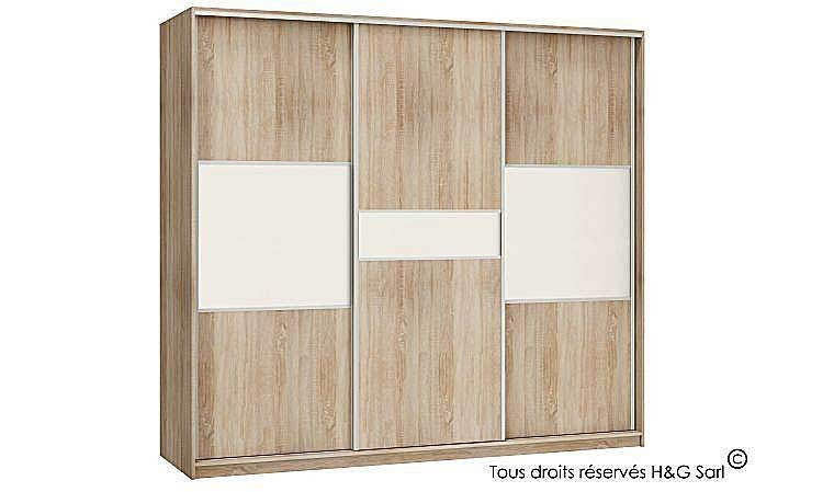 armoire dressing design 3 portes coulissantes pas cher. Black Bedroom Furniture Sets. Home Design Ideas