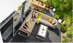 Canapé angle extérieur design