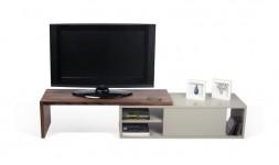 MEUBLE TV MODULABLE MOVE BLANC et NOYER