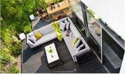 Salon jardin angle noir