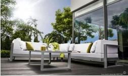 Canapé d'angle de jardin haut de gamme