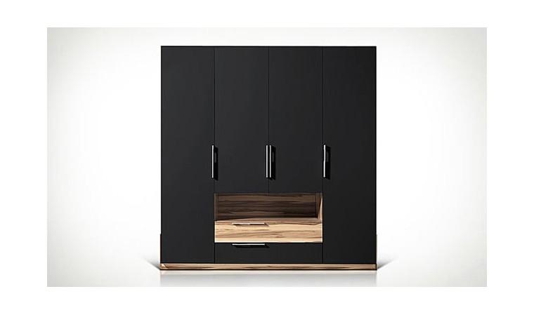 armoire dressing pour chambre a coucher adulte armoire 4 portes. Black Bedroom Furniture Sets. Home Design Ideas