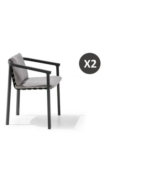 fauteuil jardin design aluminium