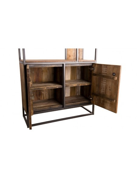 Bibliothèque bois recyclé