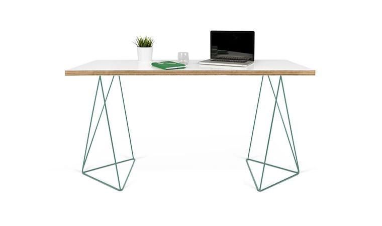 Bureau design pied eiffel vert