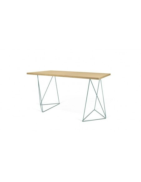 bureau en bois et pieds en métal design home desk