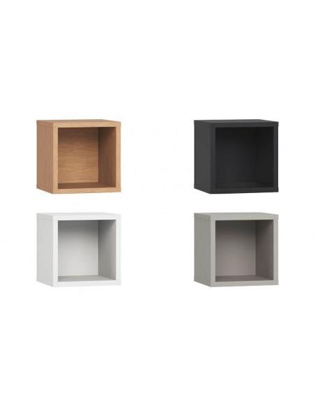 Cube de rangement mural en bois fixation invisible