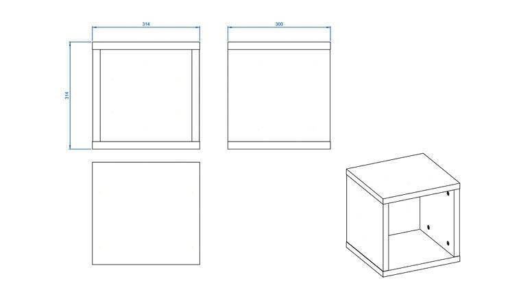 Cube Murale De Rangement En Bois Etagere Murale Design Simple Vox