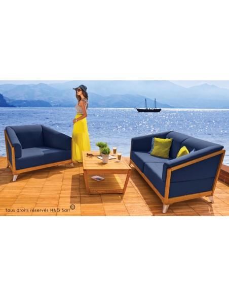 Salon jardin bas design en bois