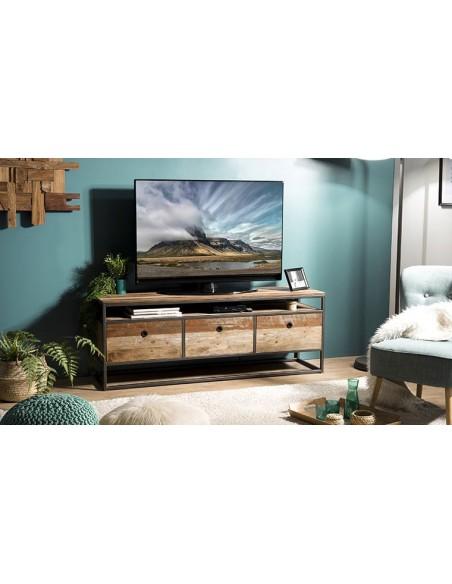 Meuble tv en bois recyclé