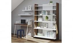 bibliothèque minimaliste moderne