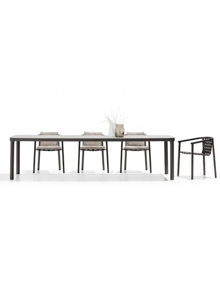 Table jardin plateau céramique