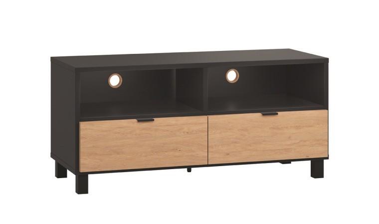 Petit meuble tv design et personnalisable en bois 120 cm Simple