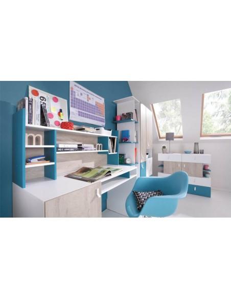 Bibliothèque enfant bleu
