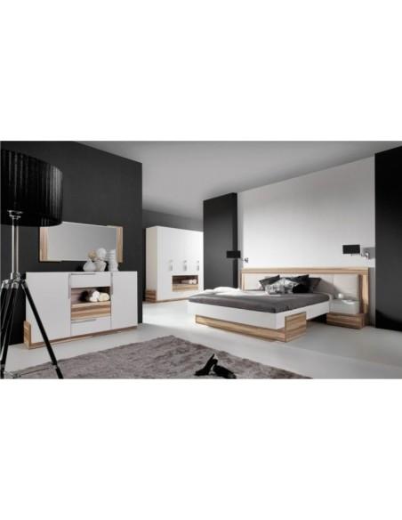 lit bois blanc