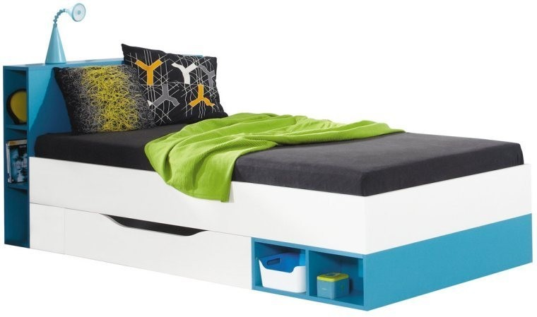 lit enfant volutif jolly bleu mobilier contemporain pour chambre ados. Black Bedroom Furniture Sets. Home Design Ideas