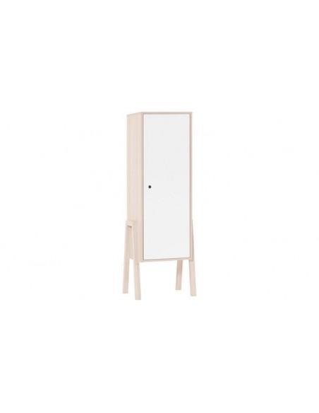 Armoire en bois blanc