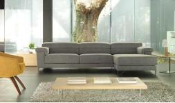 Canapé d'angle contemporain en tissu relax