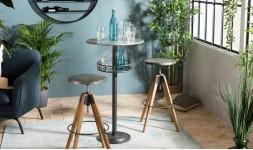 Table bar style industriel
