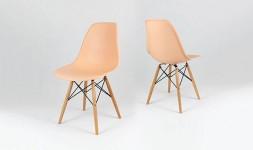 chaise design couleur saumon
