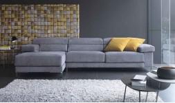 Canapé d'angle design en tissu