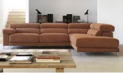 Canapé d'angle contemporain tissu