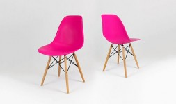 chaise moderne rose fuschia