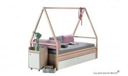 Lit à baldaquin mobile en bois pour chambre ado