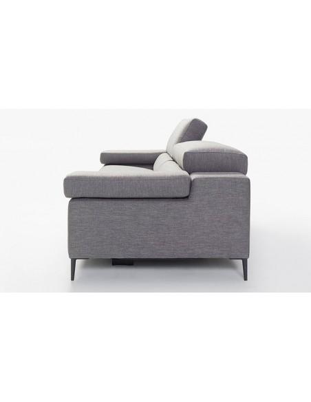 Canapé scandinave 2 places en tissu