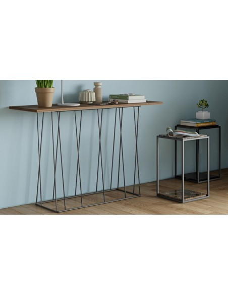 Table appoint marbre marron