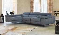 Canapé d'angle en tissu dossier électrique réglable