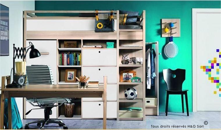 lit ado combin avec rangements et armoires spot vox design. Black Bedroom Furniture Sets. Home Design Ideas