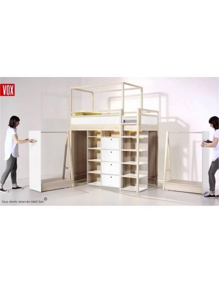 Lit ado combiné avec armoire amovible