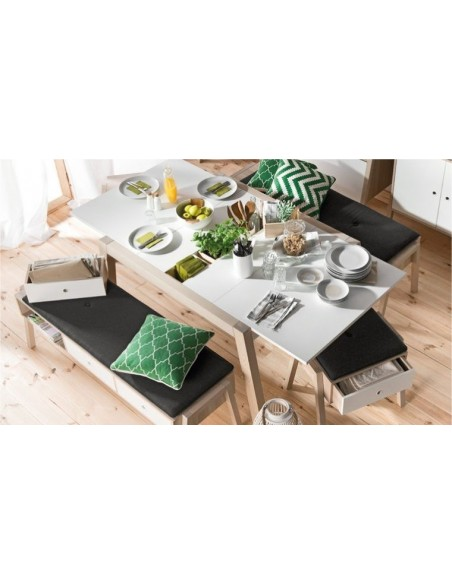Table extensible scandinave