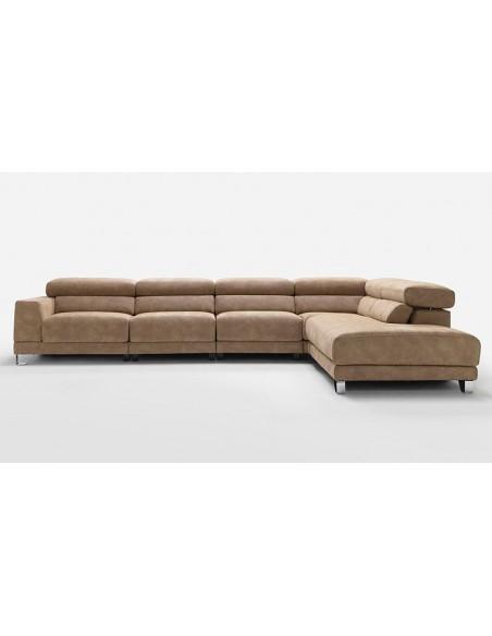 Canapé d'angle moderne en tissu